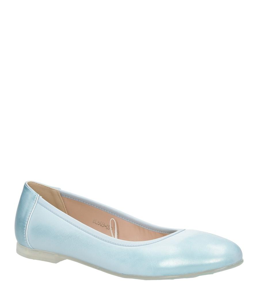 Niebieskie baleriny Sergio Leone BL603-07P