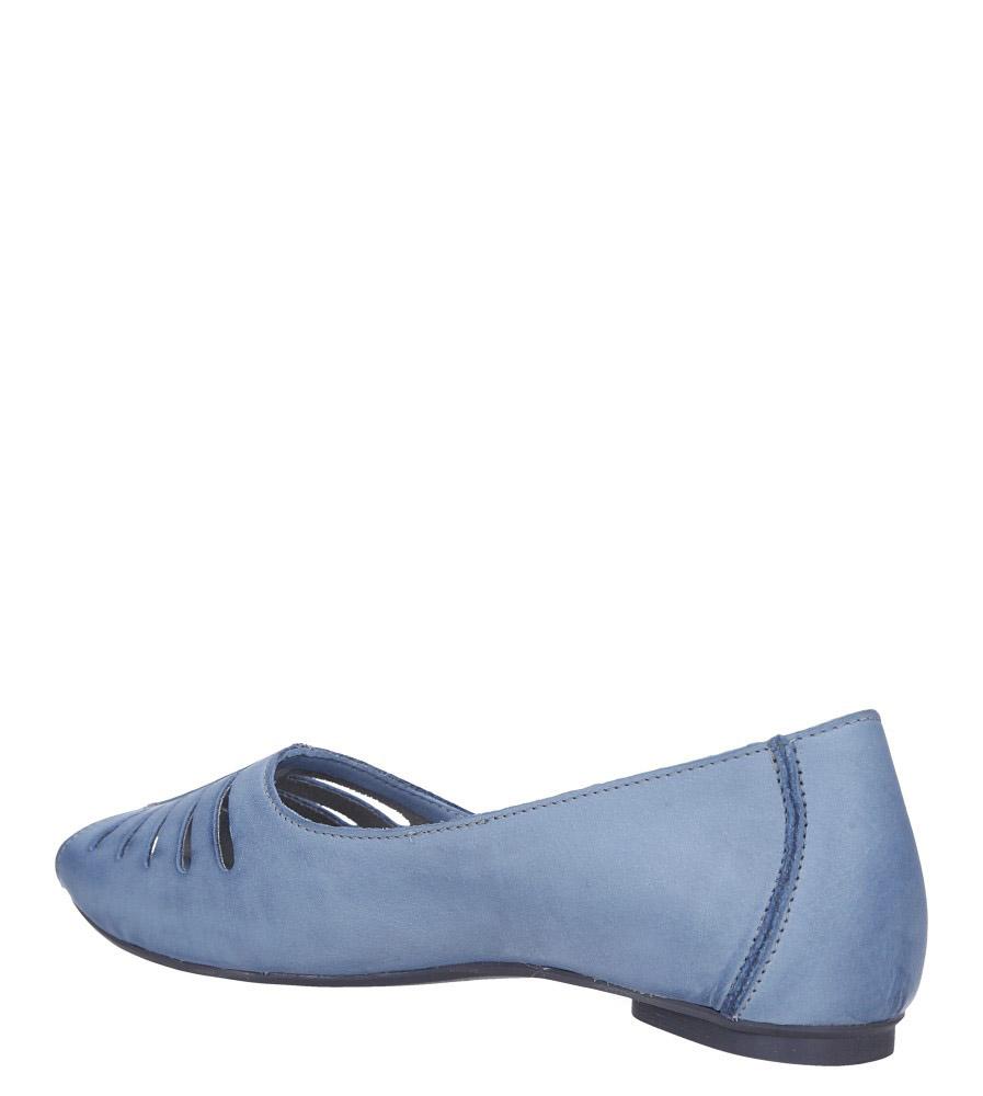Niebieskie baleriny skórzane z odkrytymi palcami Maciejka 03497-33/00-6 wysokosc_platformy 0.5 cm