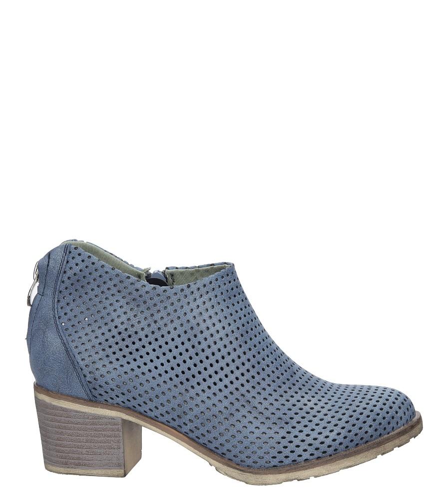 Niebieskie botki ażurowe Jezzi SA91-15