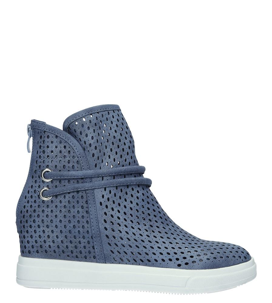 c0f194d5 ... Niebieskie botki sneakersy wiosenne ażurowe na koturnie Jezzi ASA143-3  wysokosc_obcasa 6 cm ...