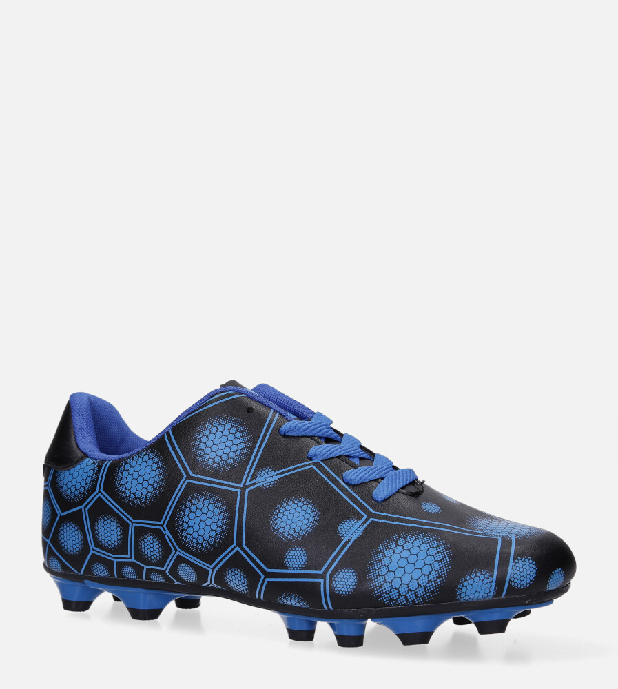 Niebieskie buty sportowe korki sznurowane Casu 168 niebieski