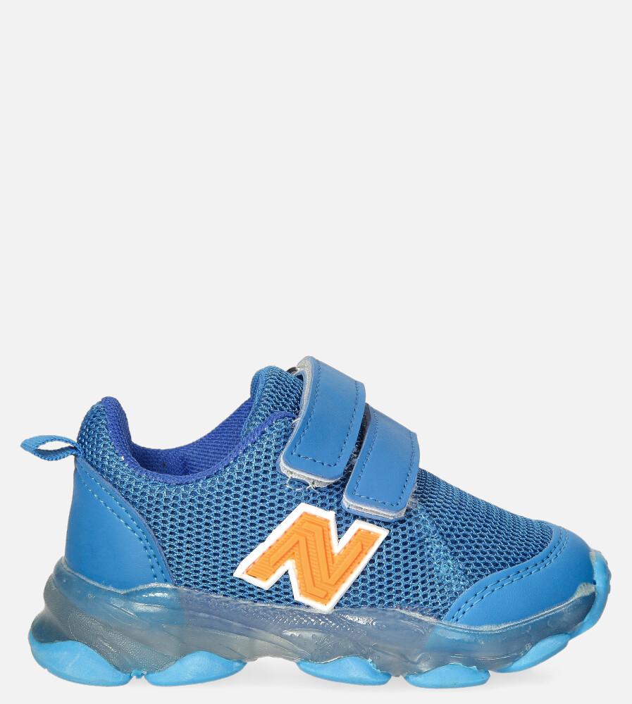 Niebieskie buty sportowe na rzep Casu 204/14M niebieski