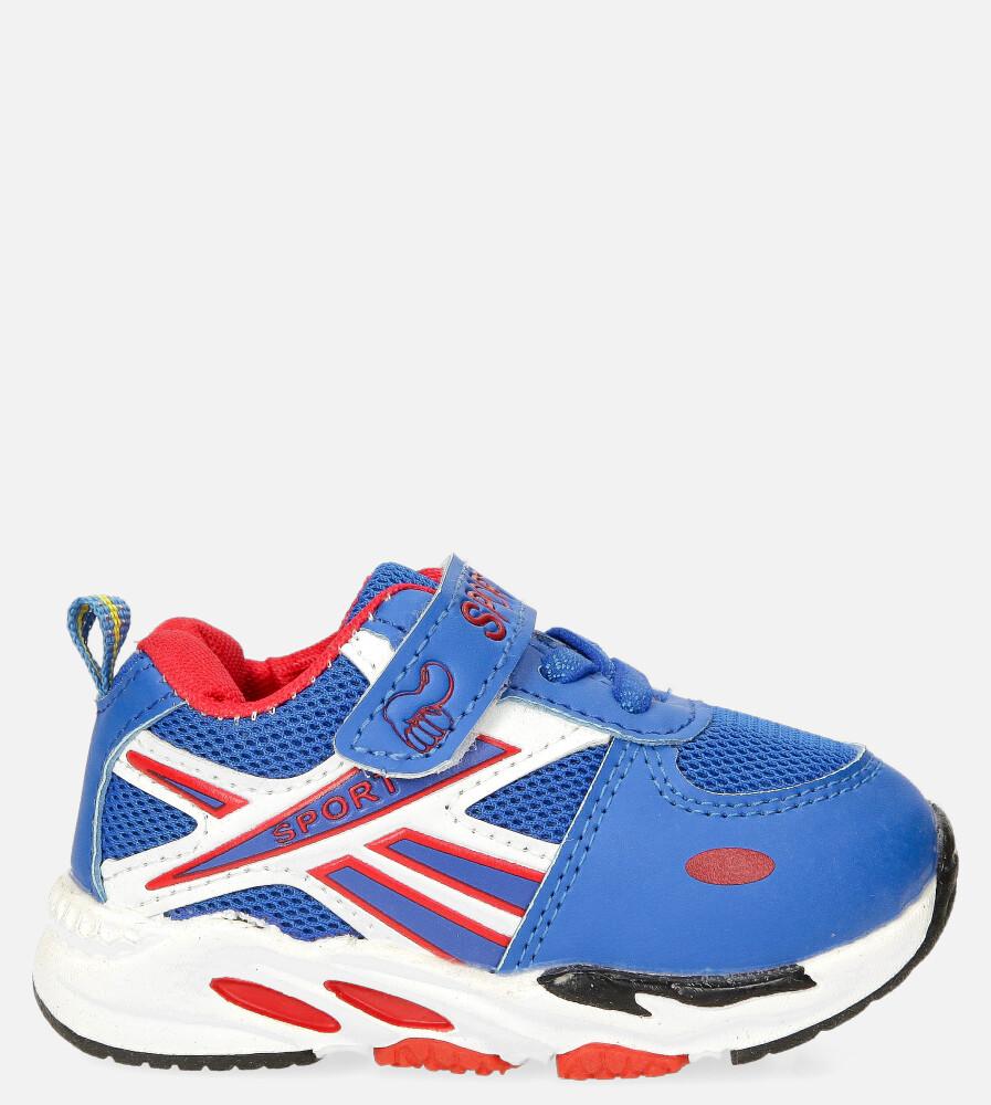 Niebieskie buty sportowe na rzep Casu 20P15/M ciemny niebieski
