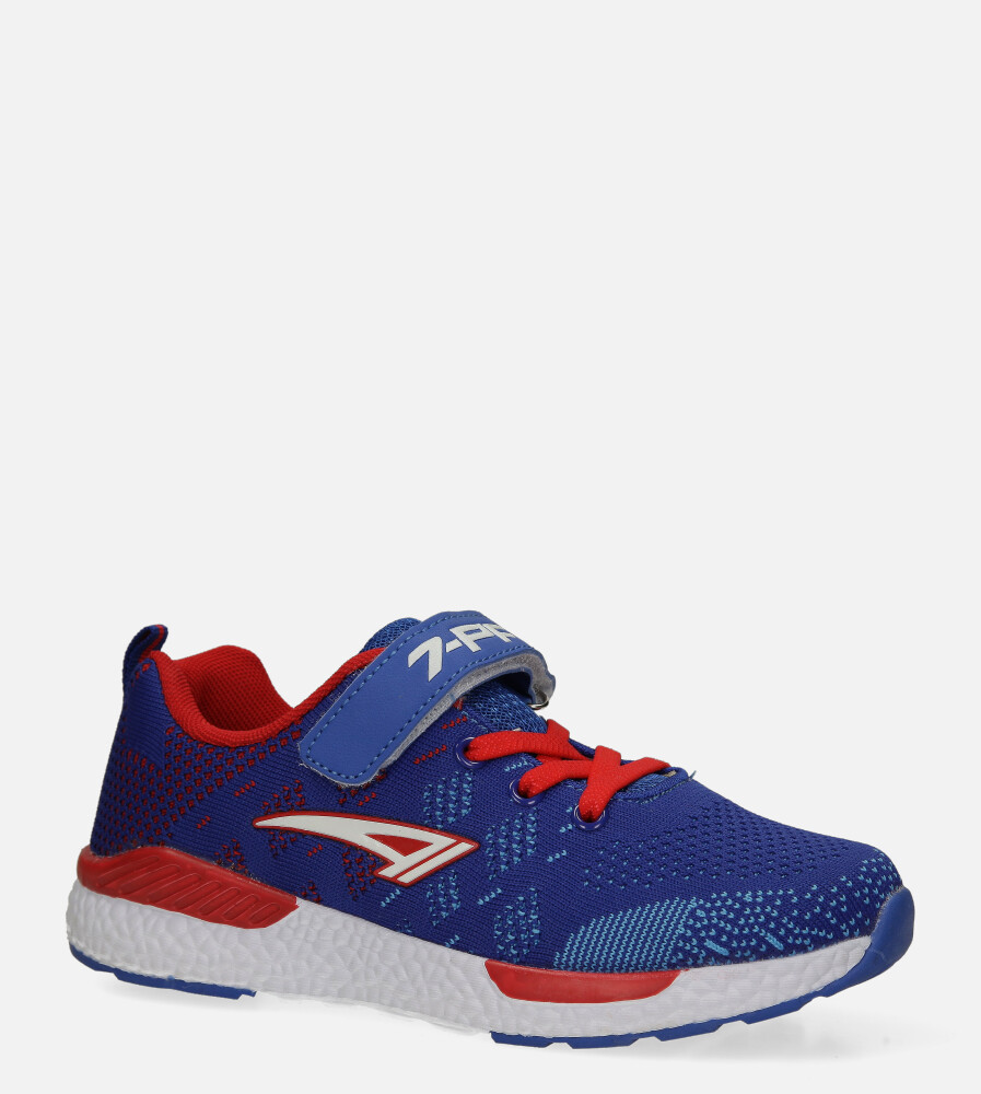 Niebieskie buty sportowe na rzep Casu 20P8/M/2 producent Casu