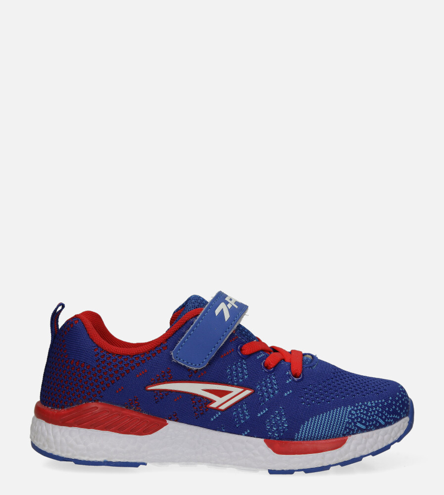 Niebieskie buty sportowe na rzep Casu 20P8/M/2 model 20P8/M/609