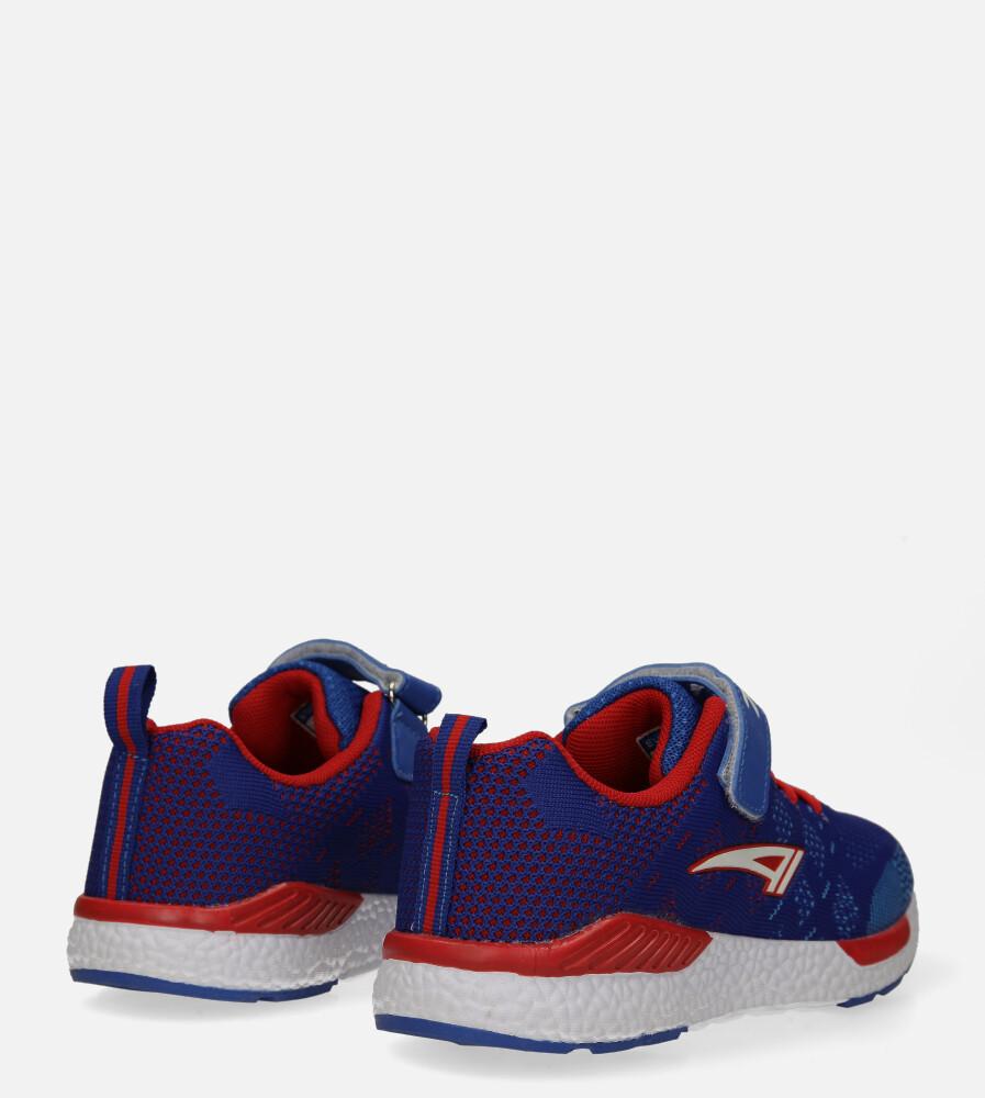 Niebieskie buty sportowe na rzep Casu 20P8/M/2 wysokosc_obcasa 3 cm