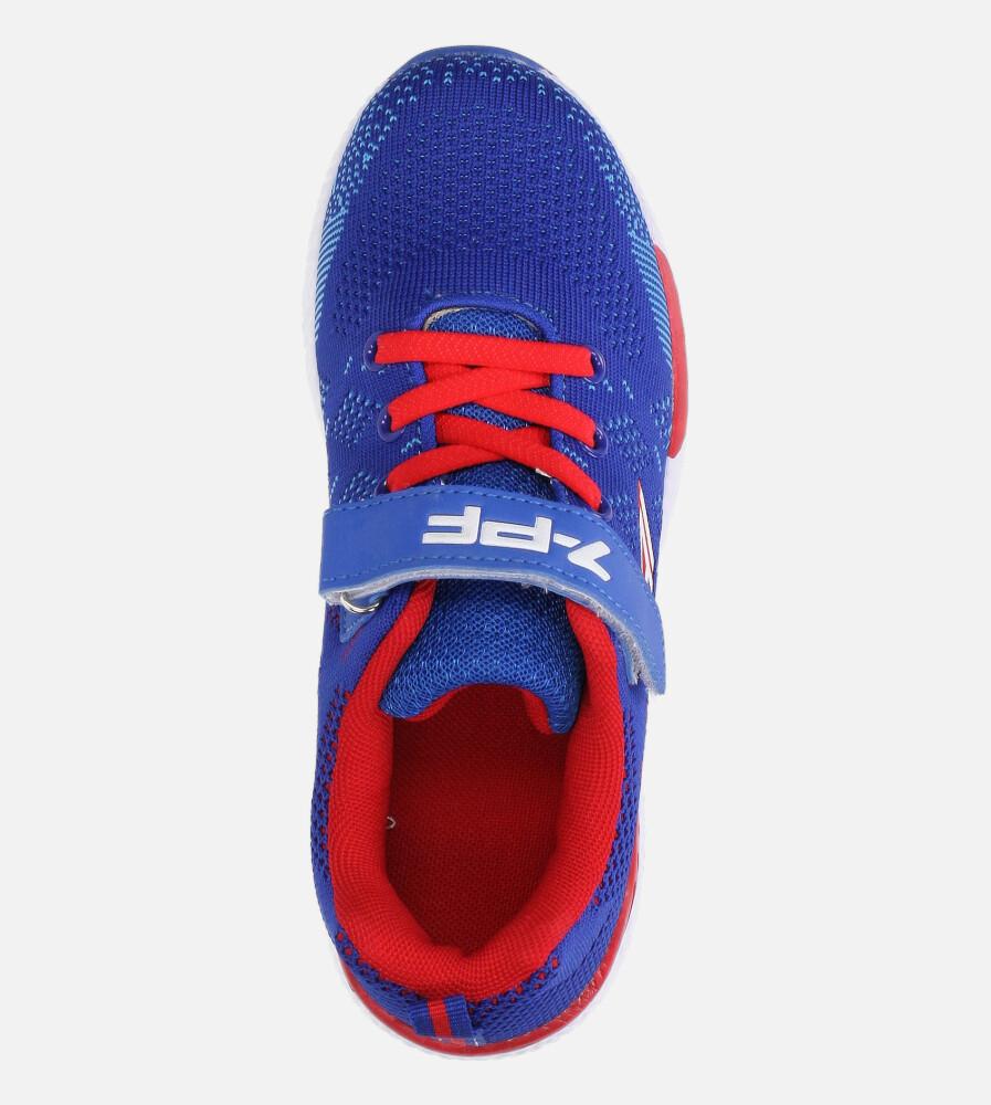 Niebieskie buty sportowe na rzep Casu 20P8/M/2 wysokosc_platformy 1 cm