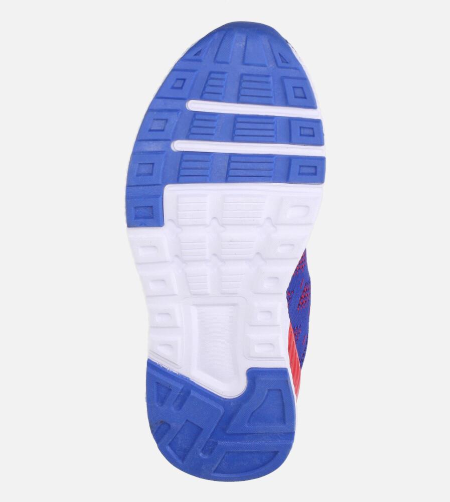Niebieskie buty sportowe na rzep Casu 20P8/M/2 wys_calkowita_buta 11 cm