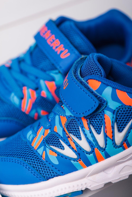 Niebieskie buty sportowe na rzep Casu 20P8/M niebieski