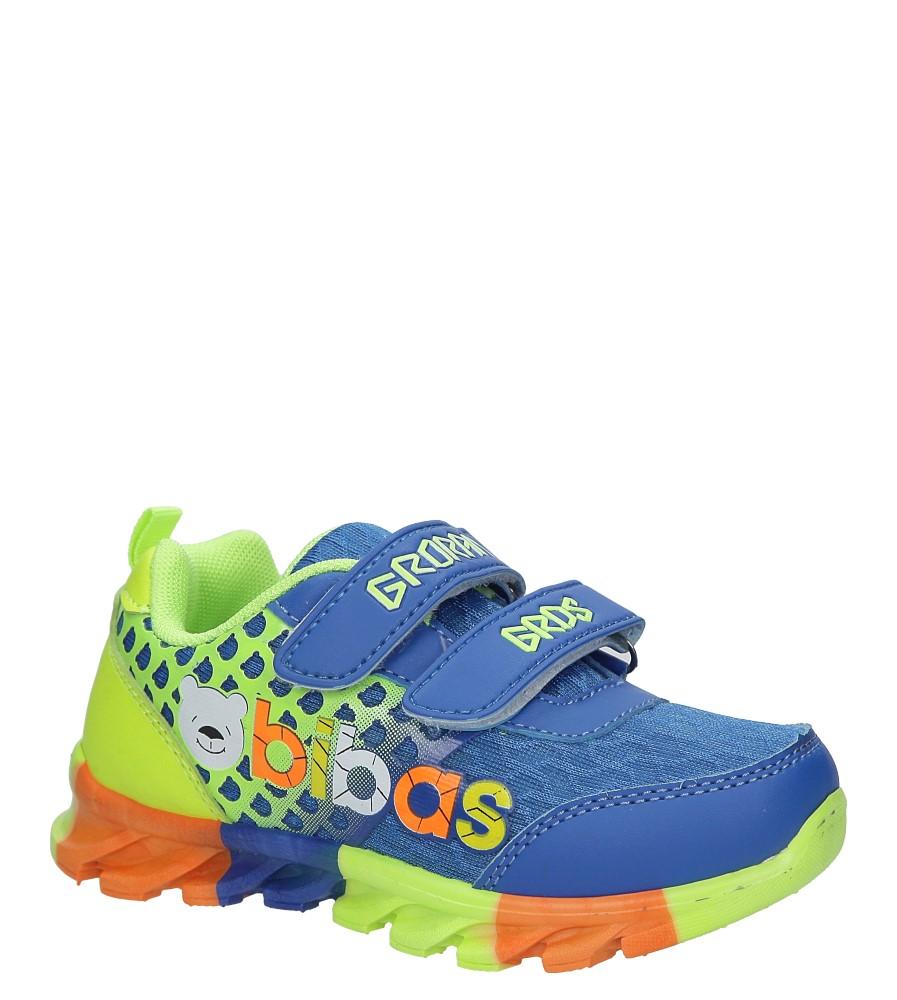 Niebieskie buty sportowe na rzepy Casu 3-6001-1