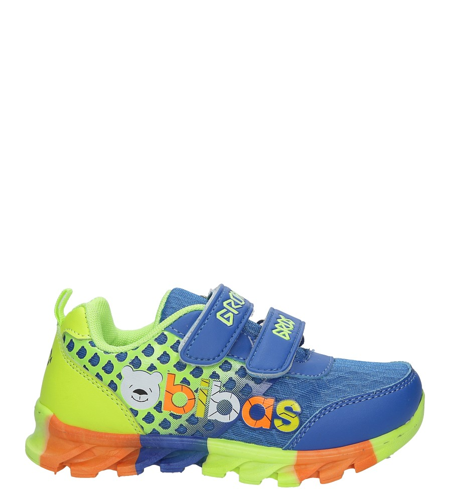 Niebieskie buty sportowe na rzepy Casu 3-6001-1 model 3-6001-1
