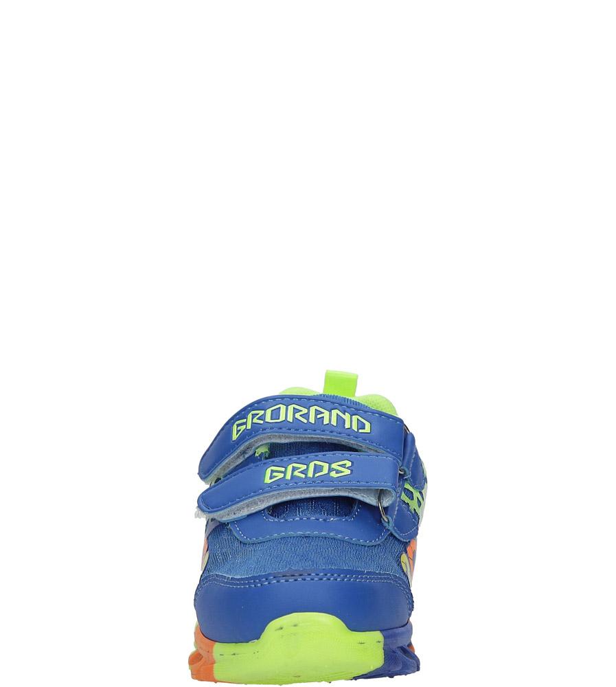 Niebieskie buty sportowe na rzepy Casu 3-6001-1 sezon Całoroczny