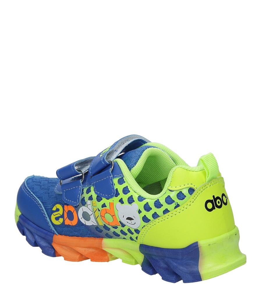 Niebieskie buty sportowe na rzepy Casu 3-6001-1 kolor niebieski