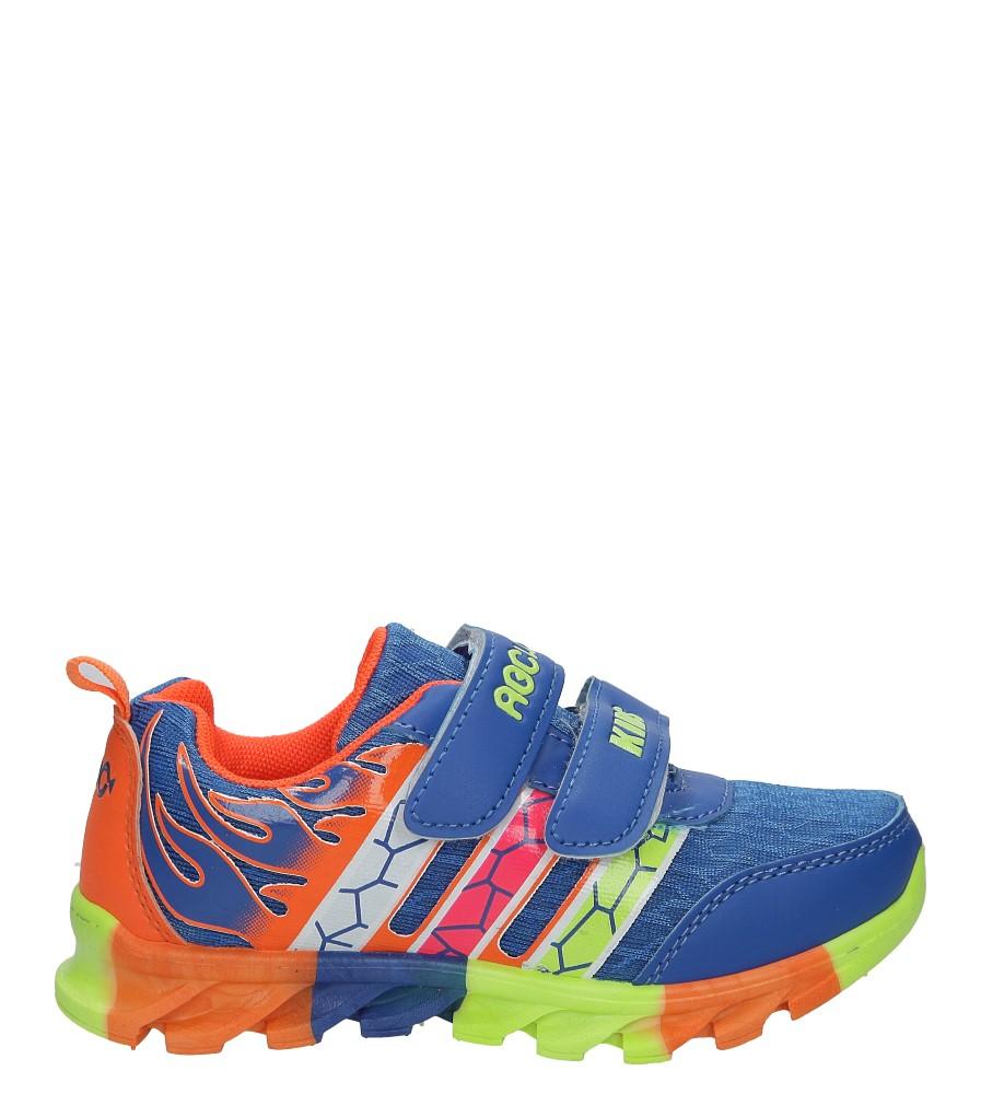 Niebieskie buty sportowe na rzepy Casu 3-6003