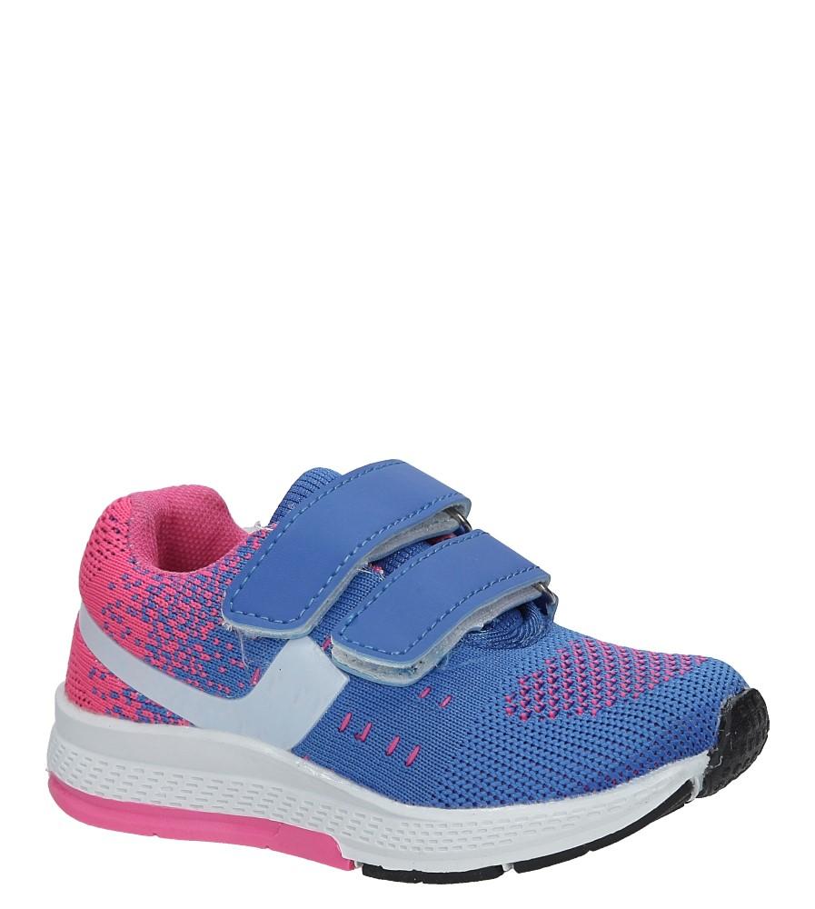 Niebieskie buty sportowe na rzepy Casu 3A-YF86170 niebieski