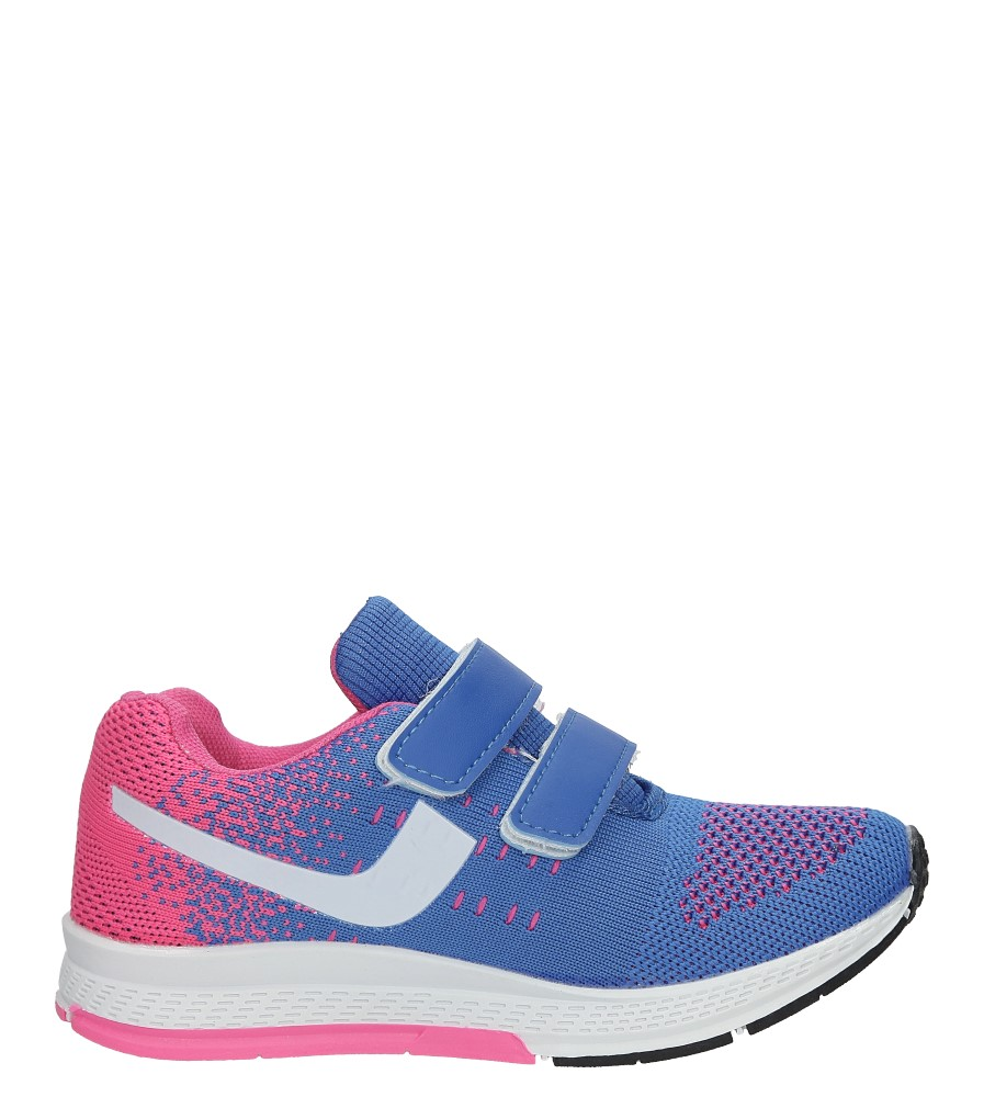 Niebieskie buty sportowe na rzepy Casu 5A-YF86170