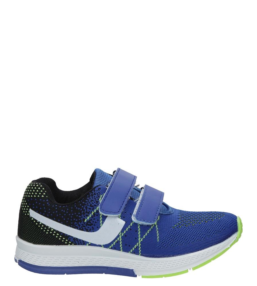Niebieskie buty sportowe na rzepy Casu 5A-YF86177 ciemny niebieski