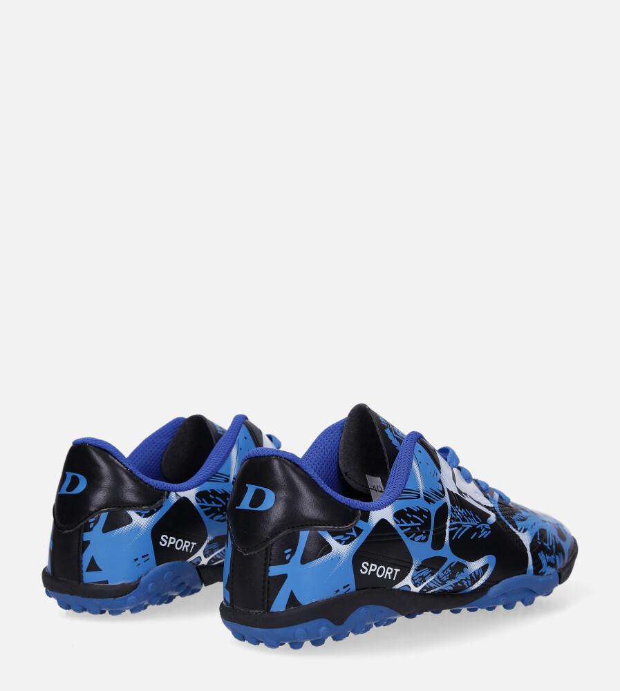 Niebieskie buty sportowe orliki sznurowane Casu 163-1 wysokosc_platformy 1.5 cm
