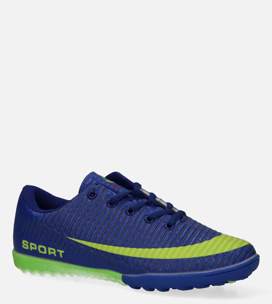 Niebieskie buty sportowe orliki sznurowane Casu 20M2/M producent Casu
