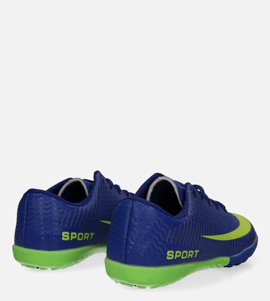 Niebieskie buty sportowe orliki sznurowane Casu 20M2/M wysokosc_platformy 1.5 cm