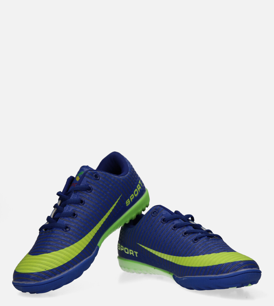 Niebieskie buty sportowe orliki sznurowane Casu 20M2/M kolor niebieski, seledynowy