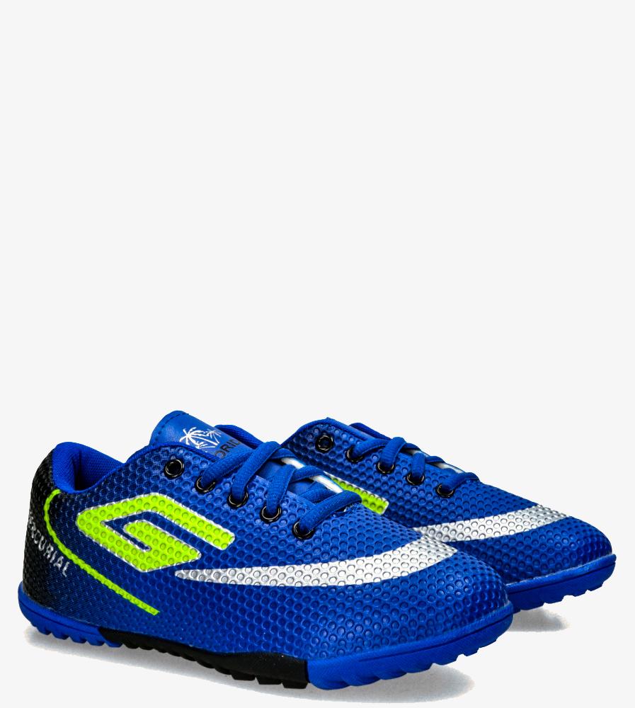 Niebieskie buty sportowe orliki sznurowane Casu 21M2/M niebieski