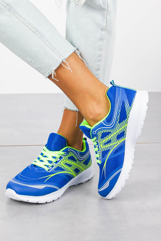 Niebieskie buty sportowe sznurowane Casu C-20231-8 niebieski