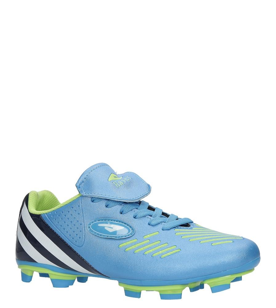 Niebieskie buty sportowe sznurowane korki Casu B212A-4
