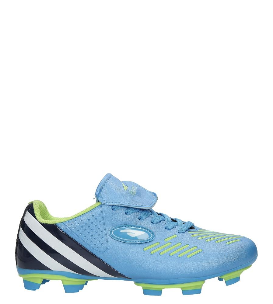 Niebieskie buty sportowe sznurowane korki Casu B212A-4 jasny niebieski