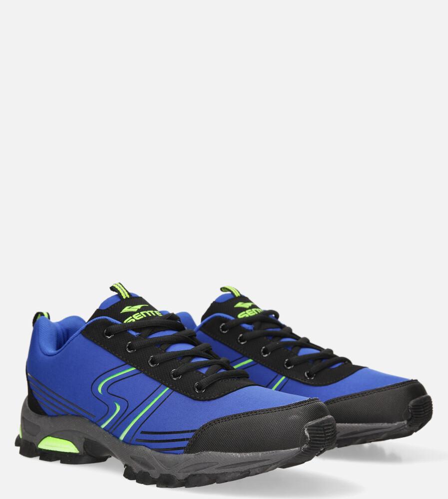Niebieskie buty sportowe sznurowane softshell Casu A1808-4 producent Casu