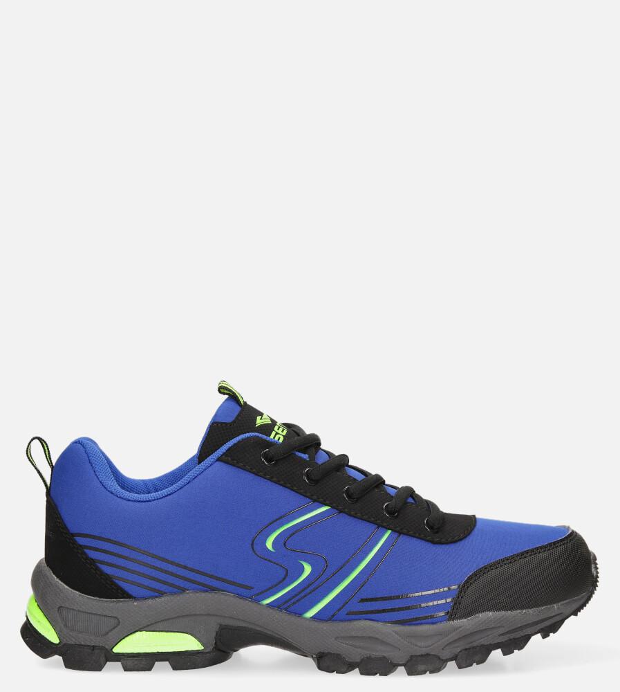 Niebieskie buty sportowe sznurowane softshell Casu A1808-4 model A1808-4