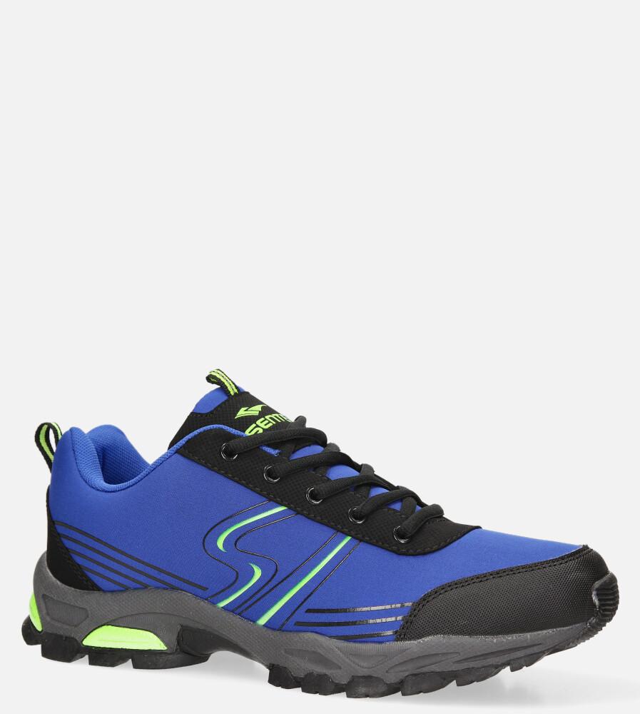 Niebieskie buty sportowe sznurowane softshell Casu A1808-4 sezon Całoroczny