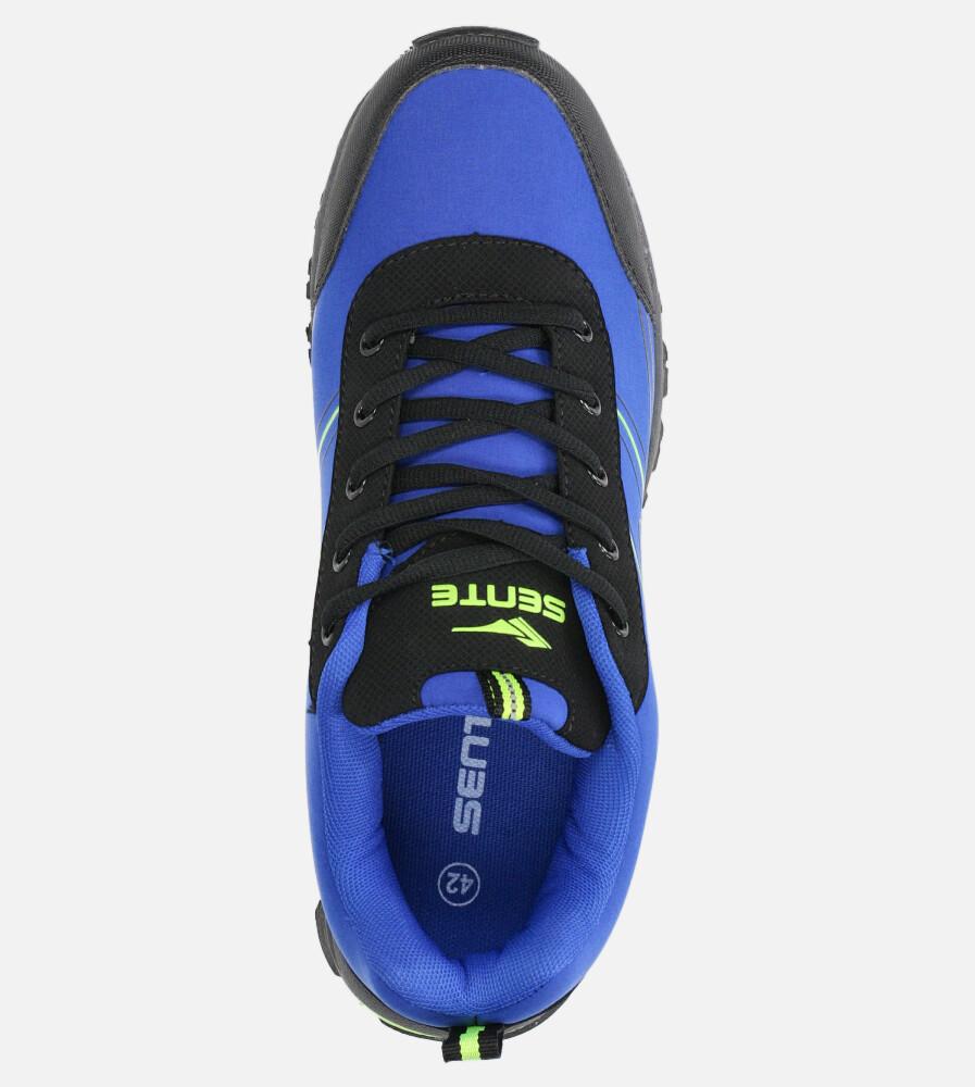 Niebieskie buty sportowe sznurowane softshell Casu A1808-4 wysokosc_obcasa 3 cm