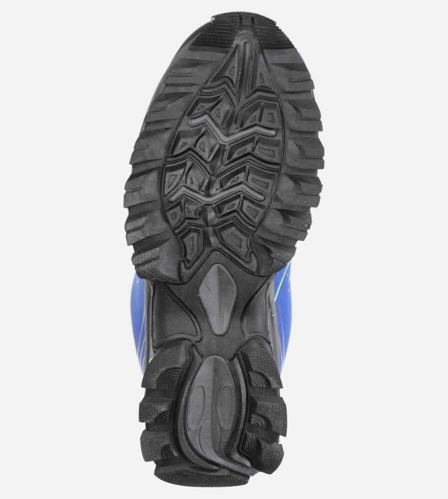 Niebieskie buty sportowe sznurowane softshell Casu A1808-4 wysokosc_platformy 1 cm