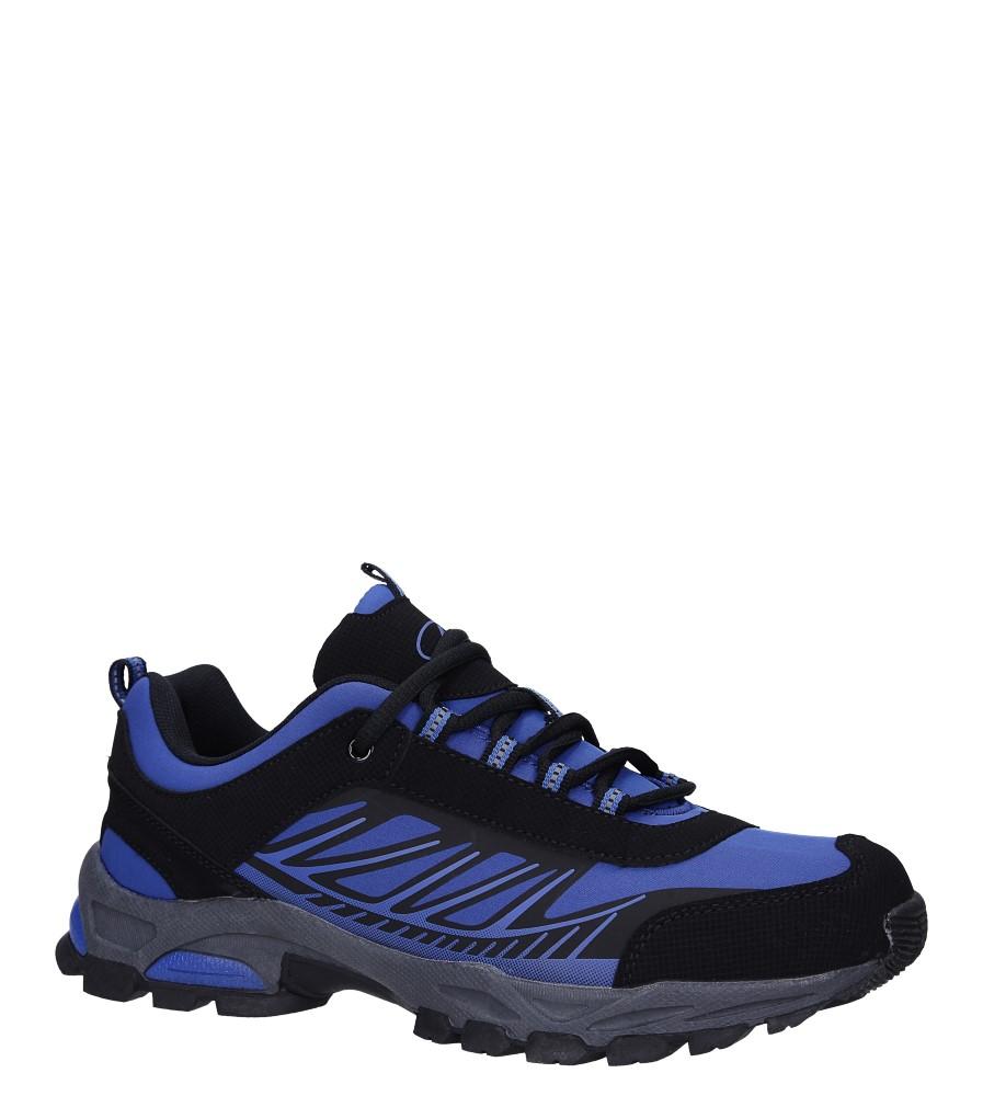 Niebieskie buty sportowe sznurowane softshell Casu A1810-3