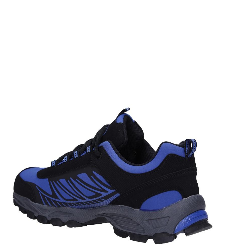 Niebieskie buty sportowe sznurowane softshell Casu A1810-3 sezon Całoroczny
