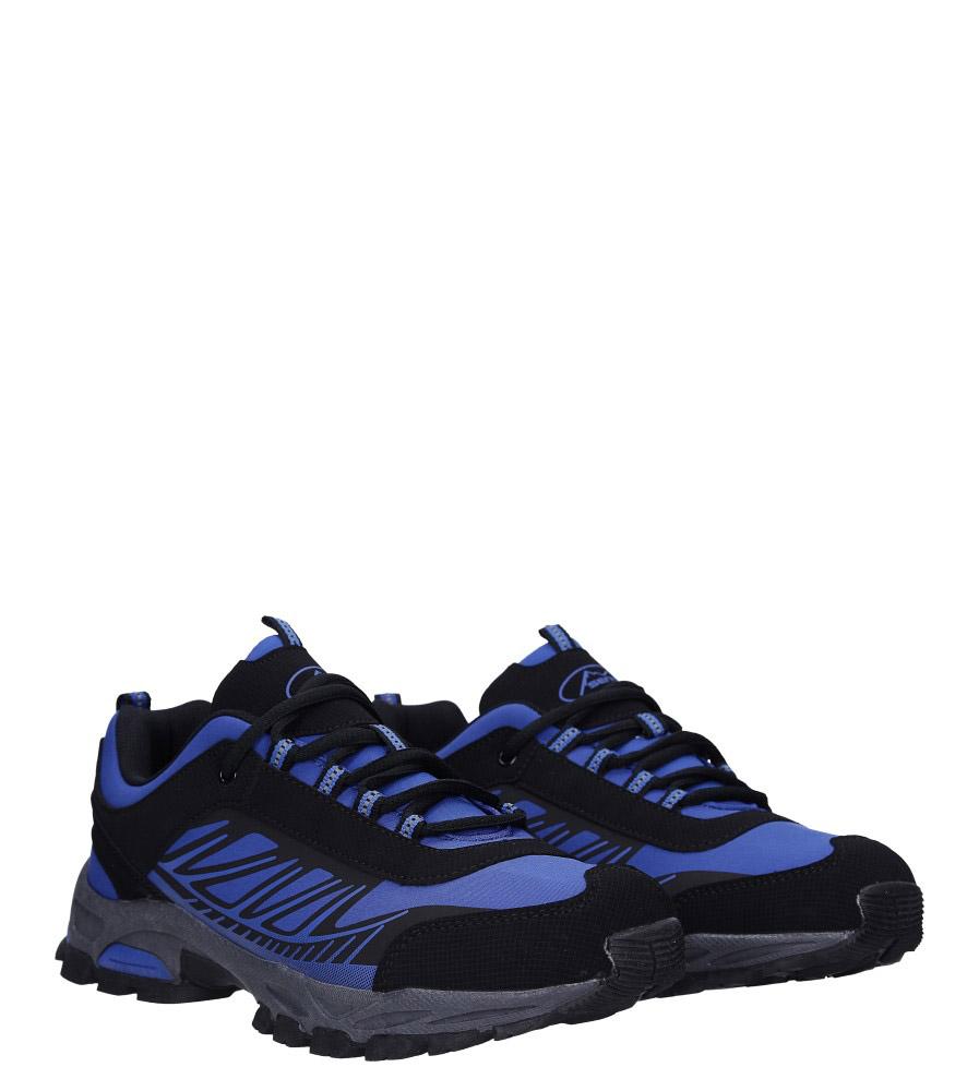 Niebieskie buty sportowe sznurowane softshell Casu A1810-3 kolor ciemny niebieski, czarny