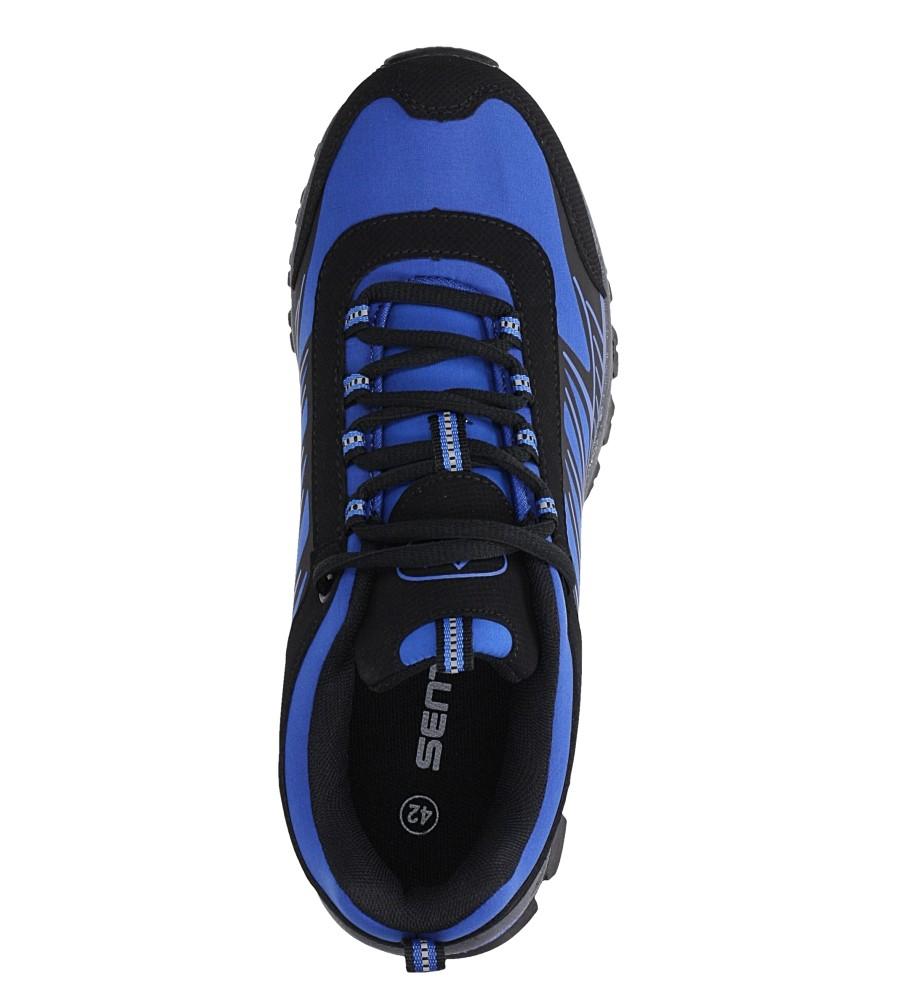 Niebieskie buty sportowe sznurowane softshell Casu A1810-3 wysokosc_platformy 1 cm