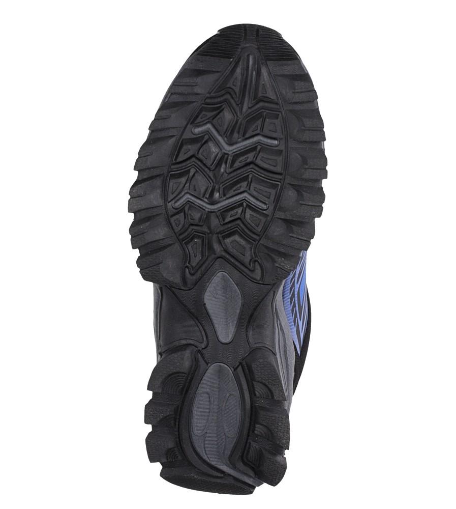 Niebieskie buty sportowe sznurowane softshell Casu A1810-3 wys_calkowita_buta 10 cm