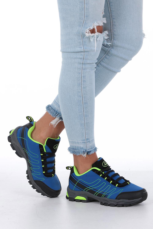 Niebieskie buty sportowe sznurowane softshell Casu B1531-2 model B1531-2