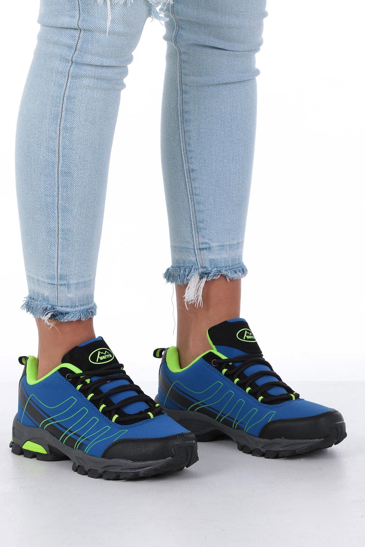 Niebieskie buty sportowe sznurowane softshell Casu B1531-2 sezon Całoroczny