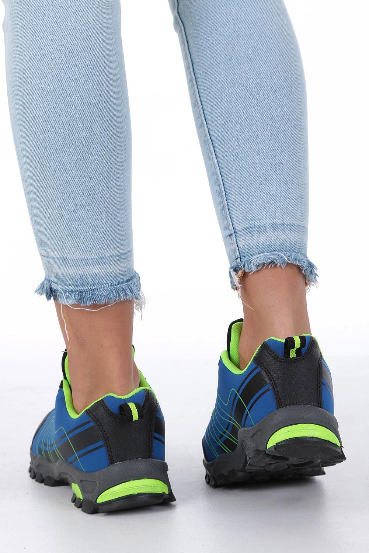 Niebieskie buty sportowe sznurowane softshell Casu B1531-2 wysokosc_obcasa 3.5 cm