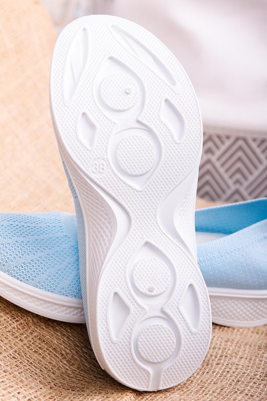 Niebieskie buty sportowe wsuwane slip on Casu 11005-4