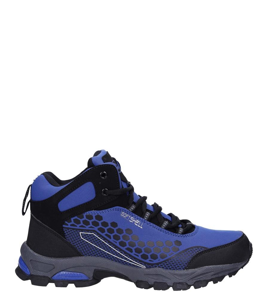 Niebieskie buty trekkingowe sznurowane softshell Casu A1813-3