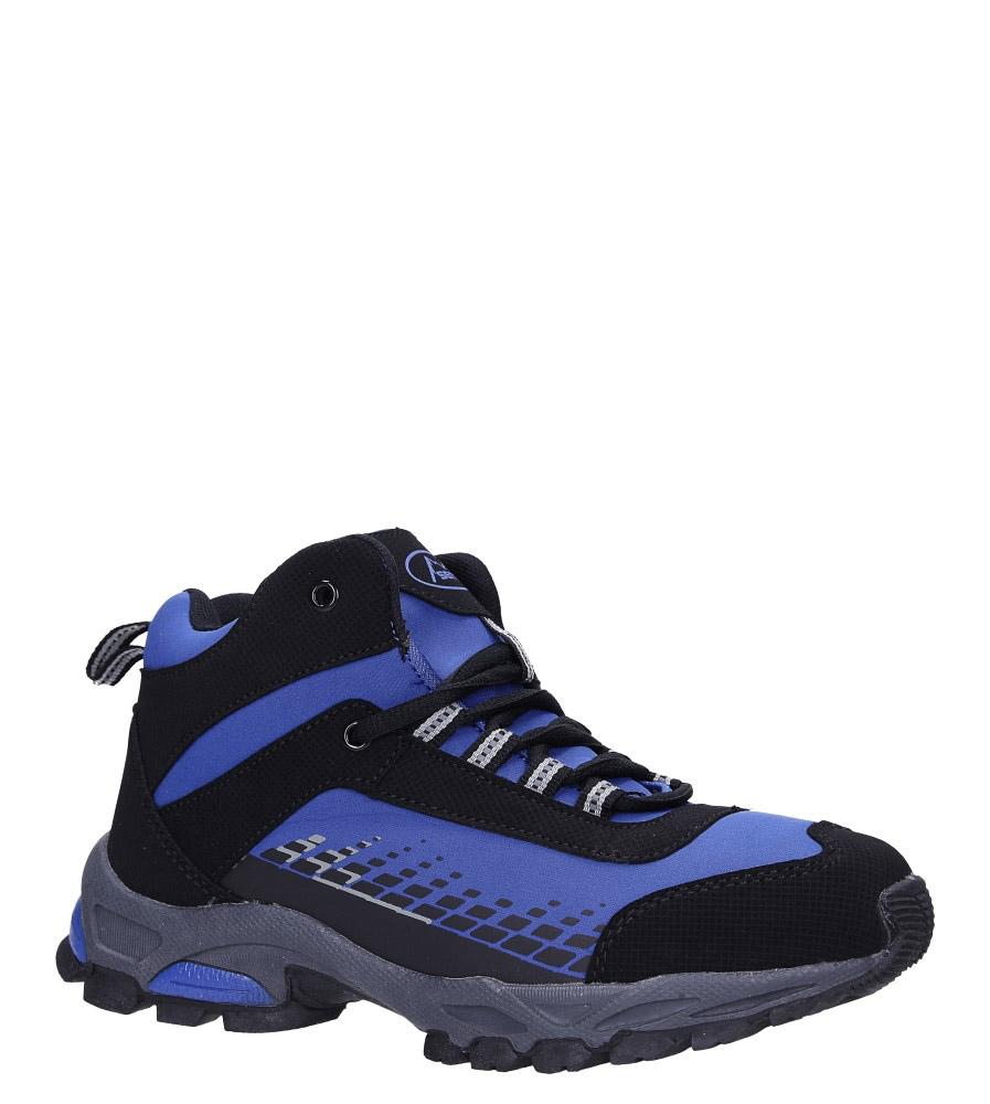 Niebieskie buty trekkingowe sznurowane softshell Casu B1811-3 ciemny niebieski