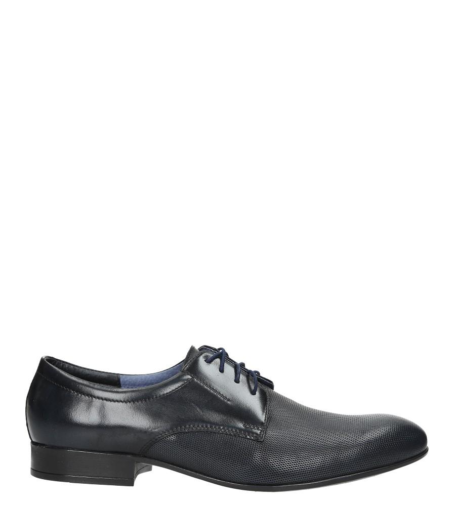 Niebieskie buty wizytowe skórzane sznurowane Windssor 651/MR