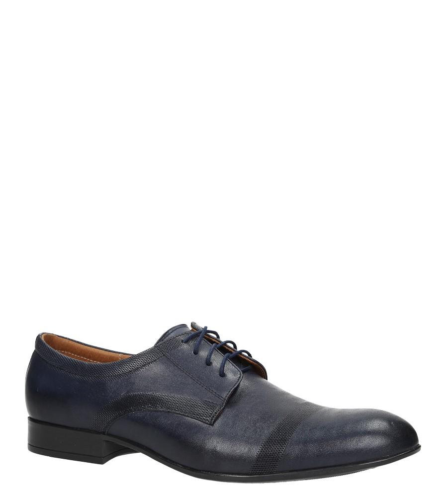 68b68fa6 Niebieskie buty wizytowe skórzane sznurowane Windssor 652/MR producent  Windssor