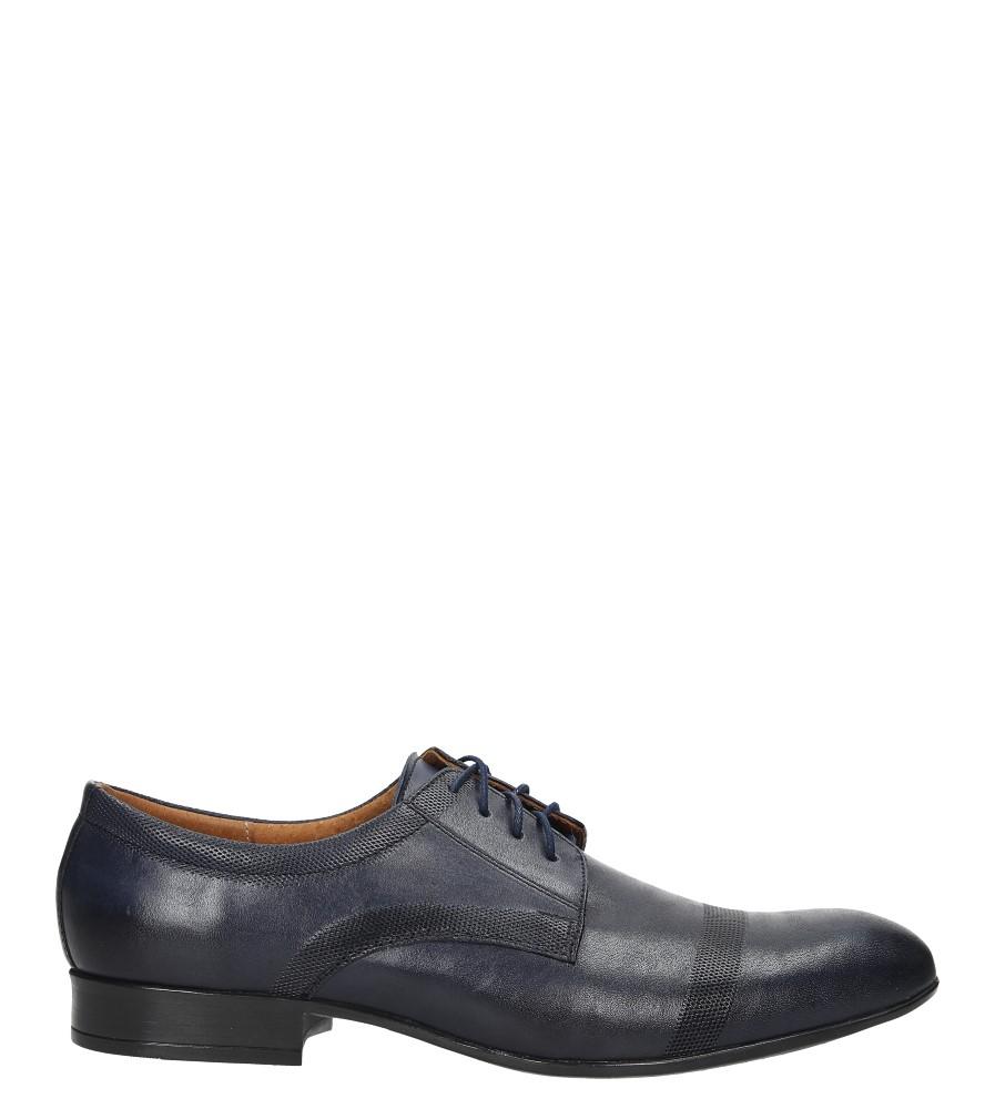 Niebieskie buty wizytowe skórzane sznurowane Windssor 652/MR ciemny niebieski