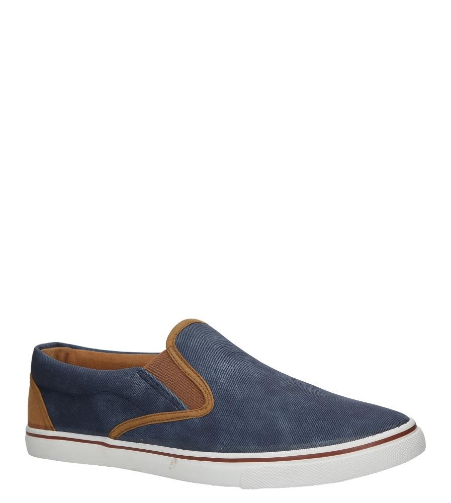 Niebieskie jeansowe póbuty slip on Casu HL61028