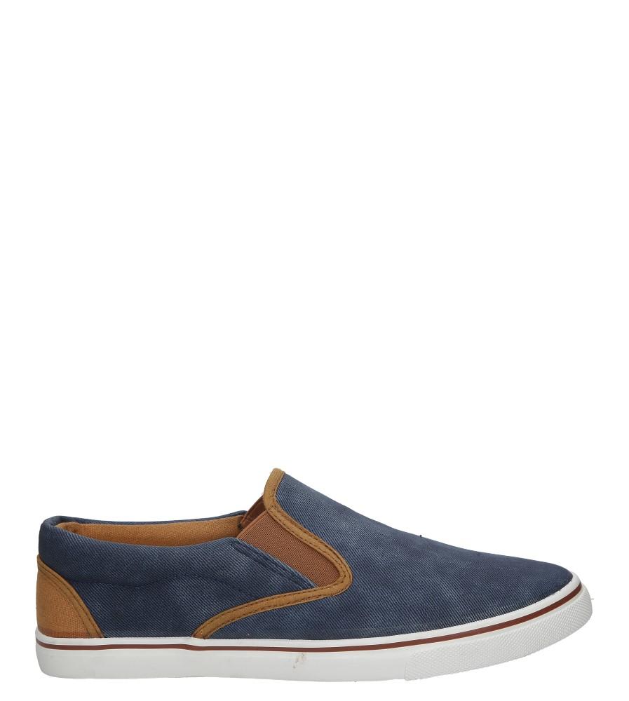 Niebieskie jeansowe póbuty slip on Casu HL61028 ciemny niebieski